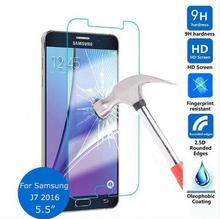 For Samsung galaxy J7 2016 Tempered Glass 9H Protective Film Explosion-proof Screen Protector for J710X Guard Screensaver Shield(China)