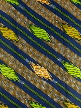 Guaranteed Quality Stretch African Fabric Real Wax Green And Yellow Zip Design rw104484(China)