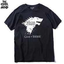 THE COOLMIND Stark cotton short sleeve Game of Thrones Men T-shirt casual men tshirt Tops Tees WINTER IS COMING MEN T shirt(China)