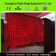Touchable&Flexible DJ BARS OR CHURCH LED Viedo curtain LED Stage light of LED display wall led curtain screen