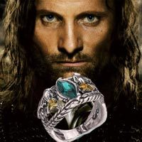 Men Ring - 2016 NEW HOT FASHION Wholesale Factory Direct Movie Lord Aragorn Hawk Eagle Men Ring Jewelry(China)