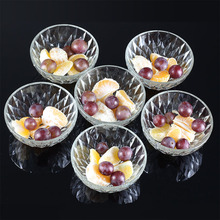 Creative 6pcs Crystal Glass Bowl Heat Resistance Tableware Transparent Salad Rice Round Dessert Bowl Household Bowl Set