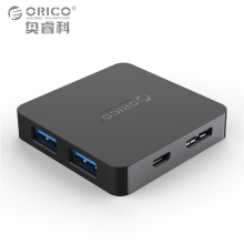 ORICO Super Speed 4 Port USB HUB 3.0 Portable OTG HUB USB Splitter with Micro B Power Port for Apple Macbook Laptop PC Tablet