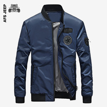 AFS JEEP Men Bomber Jacket Famous Brand Casual Fashion Motorcycle Coat High Quality Slim Zipper Long-distance Travel Jacket