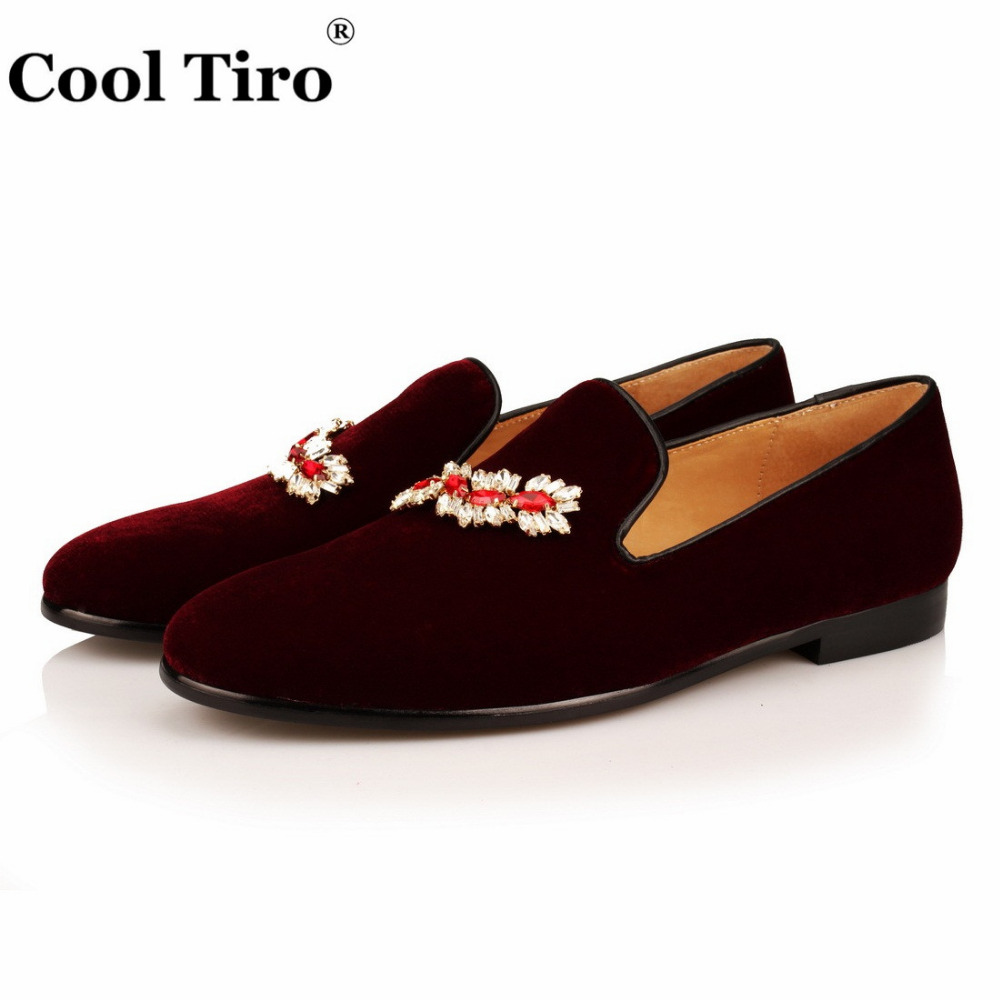 VELOUR BURGUNDY SLIPPERS Loafers (3)