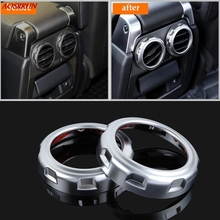 2PS Matt Chrome Rear Seat Air Conditioning Outlet Vent Ring For Land Rover Range Sport Discovery 4 LR4 2009-2016 Car Accessories(China)