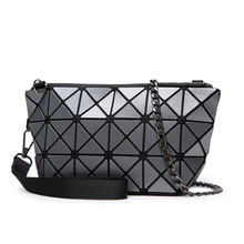 The New Woman Bags Geometric Matte Woman Handbag Variety Folding Clutch Bag I Chain Shoulder Bags Factory Wholesale Dropship