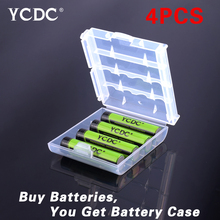 Hot! 4pcs YCDC 1.2V AAA 1000 mAh Ni-MH Rechargeable Battery With Battery Helder Box EE6344