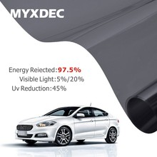 50x300cm Car Side Window Black Tint Film Glass VLT 5%/20% Auto House Solar UV Protection Summer Prevent Ultraviolet Car Styling(China)