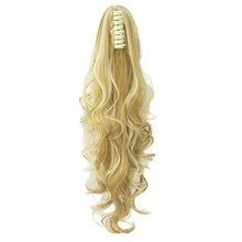 Soowee Long Wavy Clip In Hair Piece Extensions Blonde Black Pony Tail Synthetic Hair Claw Ponytail