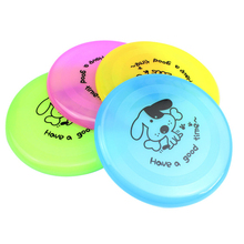 2017 Large Size Dog FRISBEE Puppy Trainning TOY Plastic Fetch Flying Disc Frisby Hot Sale(China)