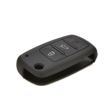 for VW Volkswagen Jetta Passat Candy Color Keyless Entry Remote Key Shell 1PC Silicone Car Remote Key Protector Cover Case