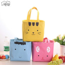Fashion Portable Cartoon Lunch Bag Thermal Insulation Waterproof Picnic Insulated Food Storage Box Tote Bag For Kid Women Office
