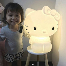 kitty cat night lamp children bedroom warm bedside EU Plug night light 46cm KT cartoon cat Hello Kitty lovely baby Nightlight