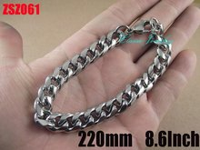 190mm-220mm 10mm fashion stainless steel bracelet Cuba chain NK chain man jewelry brace lace bangle chains ZSZ061