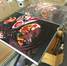 a1 poster frame for fabric light box for restaurant food display for led edge lit sign(China)