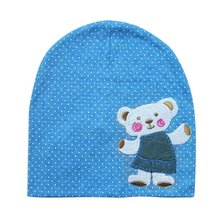 Newborn Crochet Baby beanie Cute Hat Girl Boy Cap Infant Winter Bear Cotton Cartoon(China)