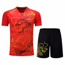 Badminton Jersey Breathable Badminton Shirt Uniforms Women / Men Table Tennis Clothes Team Game Short Sleeve T Shirts & Shorts(China)