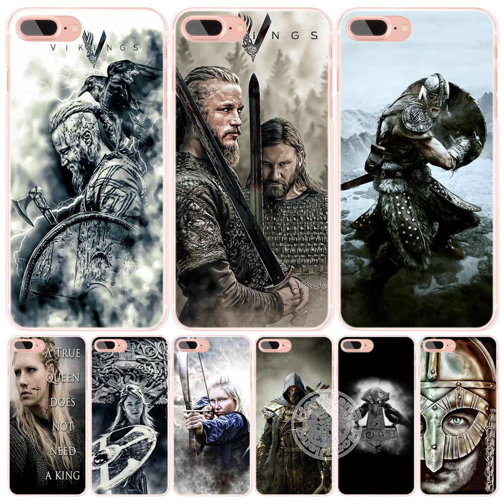 vikings Ragnar Lothbrok 5 cell phone Cover case for iphone 6 4 4s 5 5s SE 5c 6 6s 7 plus case for iphone 7(China (Mainland))