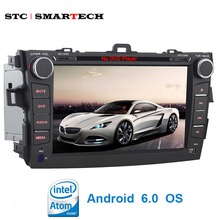 SMARTECH 2 din Car Multimedia Player Intel Quad-Core Android 6.0 OS for Toyota Corolla 2007-2010 support Bluetooth Mirror Link(China)