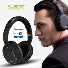 AUSDOM M05 aptX HIFI Wireless Headphones Deep Bass Bluetooth Headset with Mic Wired Stereo Headphone Long-term Comfort No Press(China)