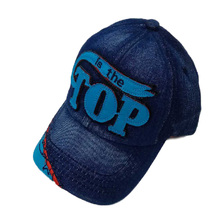 Children Boys Baseball Caps for Toddler Kids Girls Casual Letter Denim Jeans Dad Hat Summer Sun Visor Hats(China)