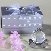 Crystal Pumpkin Coach Favors 12PCS/LOT Crystal Carriage Baby shower baptism  favors party gifts