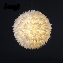 New Creative Modern Nordic DIY White PP Flowers Led E27 Pendant Light For Dining Room Living Room Restaurant Dia 45cm 1954