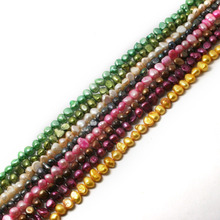 8-9mm 35.5cm/bag Irregular Shape Natural Dyed Freshwater Pearl Beads Loose Pearl Beads For Jewelry Making Necklace Bracelet DIY