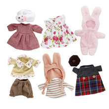 le sucre bunny rabbit Clothes Doll's clothing Floral lace plush toys dress,Play house kids toys clothes