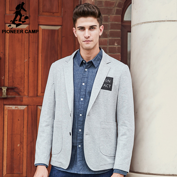 Pioneer Camp brand clothing blazer men high quality fashion casual blazer masculino slim fit designer comfort suit men 699075