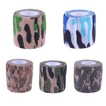 1pcs Camouflage Self-Adhesive Elastic Bandage First Aid Medical Health Care Treatment Gauze Tape Self Adhering Stick Bandage New