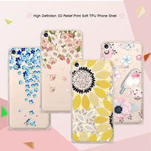 "3D Art Print Case Coque For Asus Zenfone Live ZB501KL 5.0"" Flower Lace Relief Soft TPU Phone Cases Cover For Asus ZB501KL Funda"
