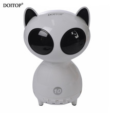 DOITOP 2017 Cartoon Cat Wireless Bluetooth Audio Creative Mini Speaker Sound System 3D Stereo Music Surround Support TF Speakers