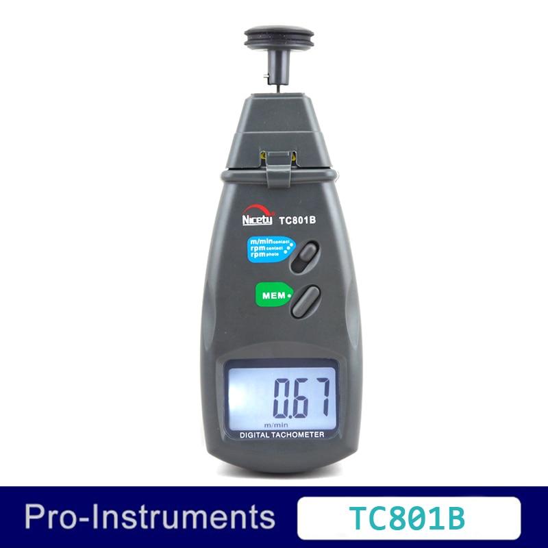 Nicety TC801B 2in1 digital rpm measuring instrument engine rpm tachometer <br>