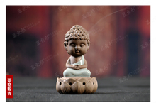 Geyao Ruyao  furnace little Buddha incense burner with ornaments of sandalwood aroma ceramic furnace