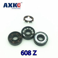 2017 Free Shipping Ceramic Swiss Bsb 608 8*22*7mm Abec11 Hybrid White Zro2 Ball Skateboard Well Bearing Skating Hand Spinner(China)