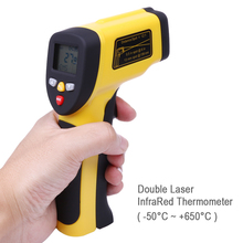 Dual Laser Infrared Thermometer for Industries Food Preparation -50 ~ 650 degree LCD Backlight IR Thermometer(China)