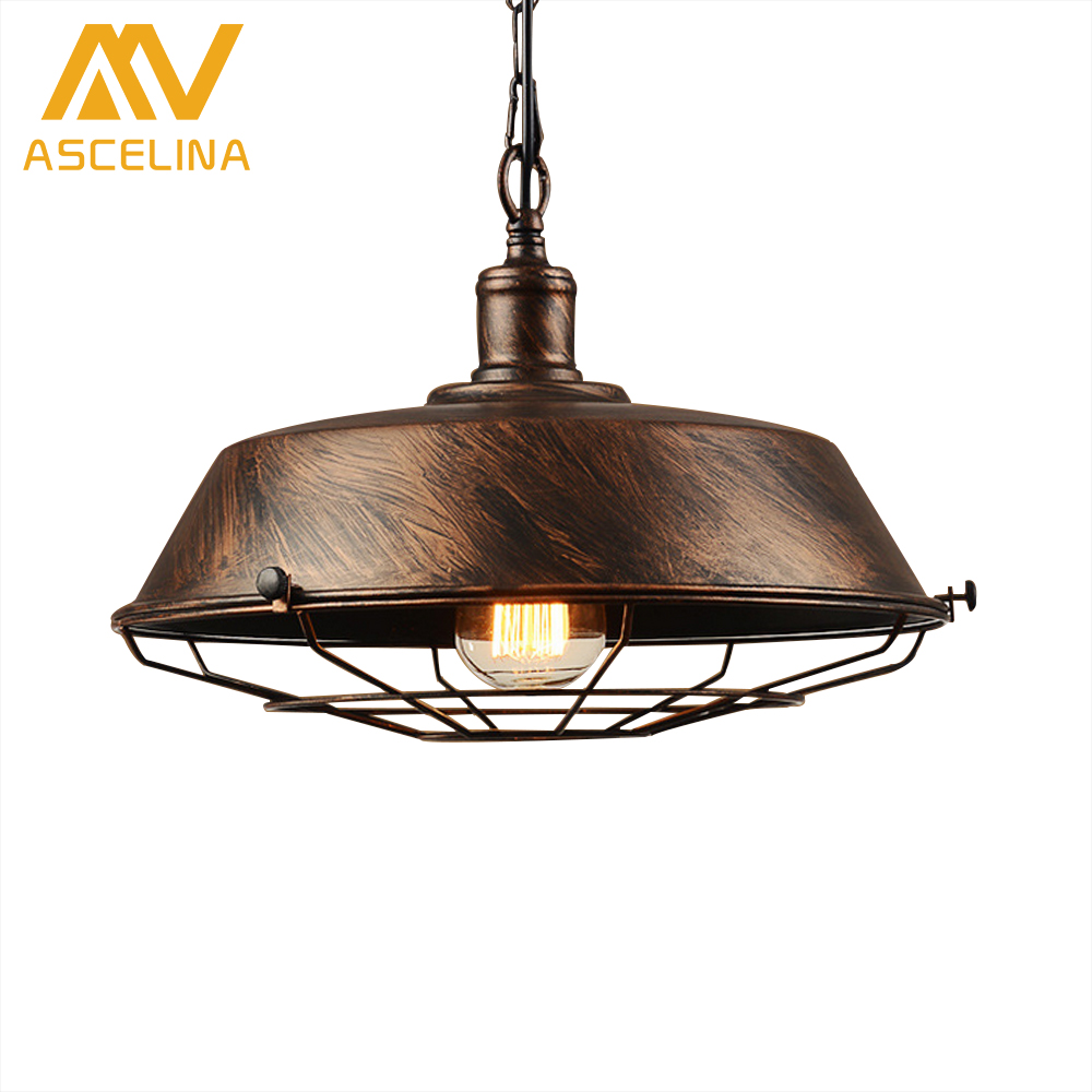 Led lamp Loft Vintage industrial pendant light for Restaurant/Cafe/Bar/Home Especial creative lamp Chain Pendant Lamp Black/Rust<br>