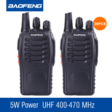 20pcs/lot Baofeng BF-888S Talkie Walkie UHF 400-470mhz Ham Radio FM Transceiver Hunting Radio Portable Handheld CB Station(China)