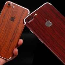 For iPhone 7Plus 5.5'' Phone Fitted Case Film For Apple iPhone 7 Plus Cover High-End Wood Full Body Cover Skin Sticker Film
