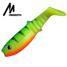 MEREDITH 10PCS 5.5g 8cm Lures Fishing Lures Artificial soft Fishing Baits Cannibal Fishing Fish Soft Lures Shads JX62-08(China)