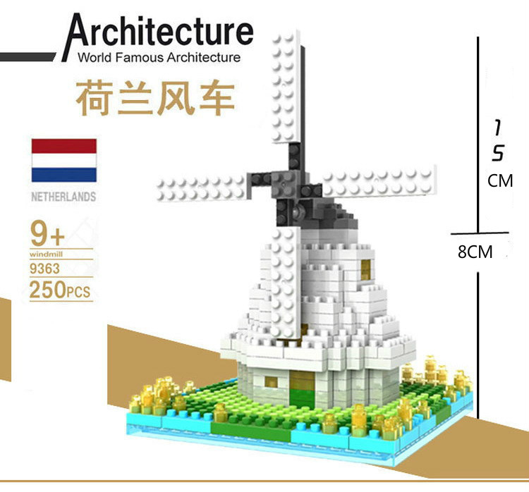 LOZ Building Blocks Toys World Famous Architecture Netherland Windmill 3D Building Blocks Toy  3D Model Educational Gift Toy<br><br>Aliexpress