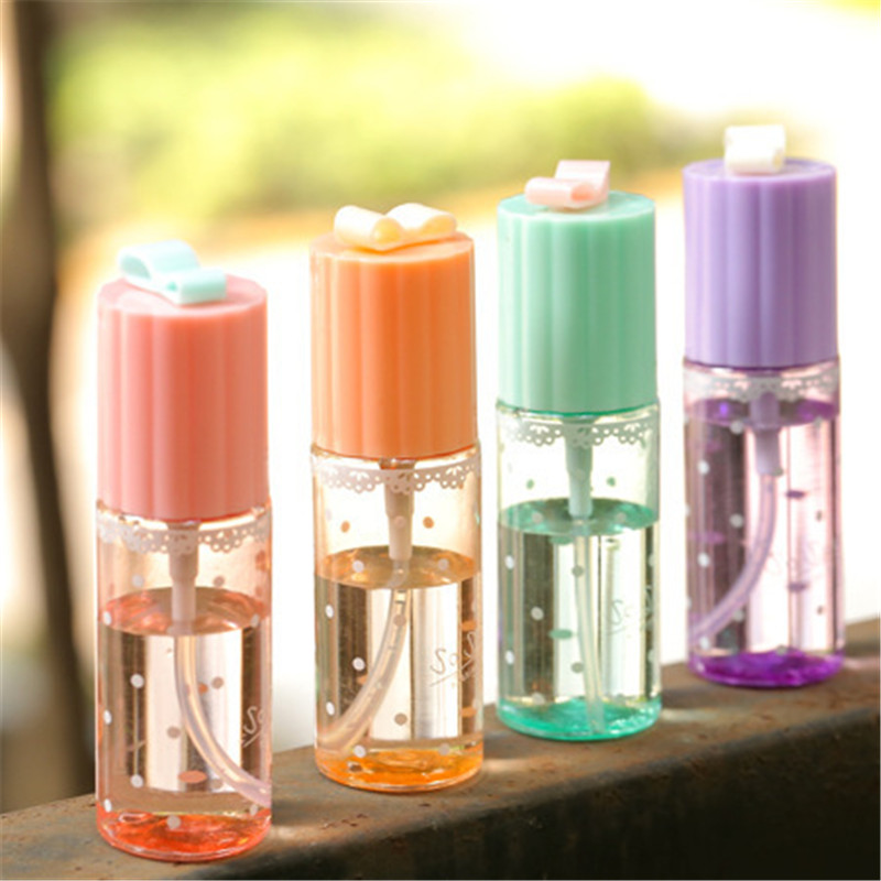 1pc mini lace bow plastic transpa 35ml small empty spray bottle for make up and skin