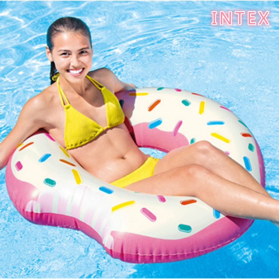 Intex Inflatable Float Pool Adult Giant Pool Floats Adults Fun Swimming Ring Donut Float Pool Beach Giant Inflatable Donut Float(China (Mainland))