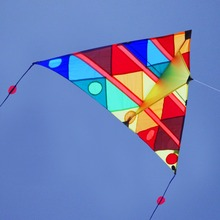 Emmakites 1.5M Kite Adults Kids Children Gift Big Kite Flying Outdoor Toy Delta Kite With Double Tail 100m Kite String Handle