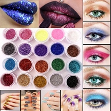Professional 20 Colors Glitter Eyeshadow Eye Shadow Makeup Shiny Loose Glitter Powder Eyeshadow Cosmetic Make Up Pigment(China)