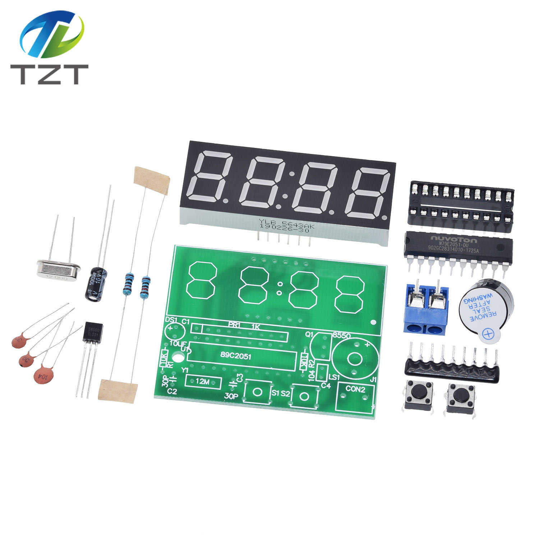 1PCS AT89C2051 Digital 4 Bits Electronic Clock Electronic Production Suite DIY