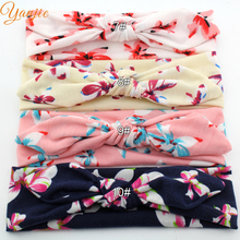 12pcs/lot Wholesale Funky Spring Style Butterfly Print Cotton Infantile Bunny Headband Charming Kids Girl DIY Hair Accessories