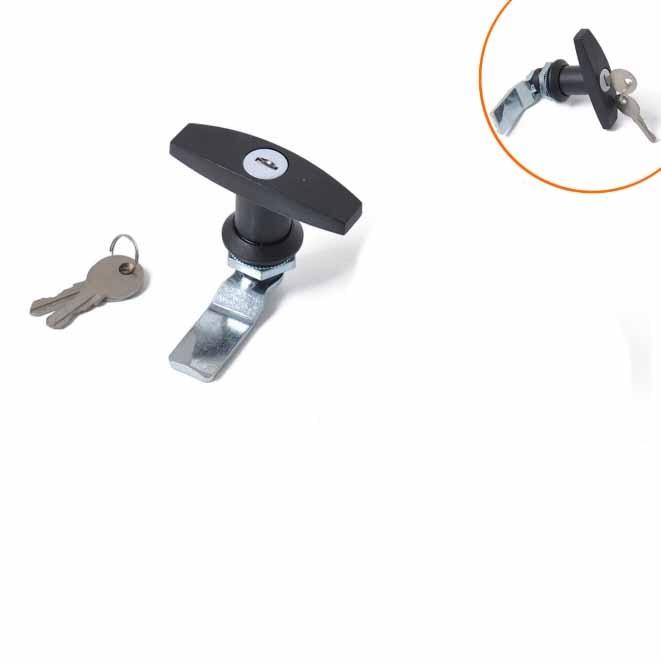 2 Black RV Entry Door Lock Handle w// deadbolt Camper Trailer Global Keyed A Like